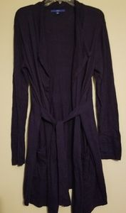 Cardigan w/ Tie Front and Pockets
